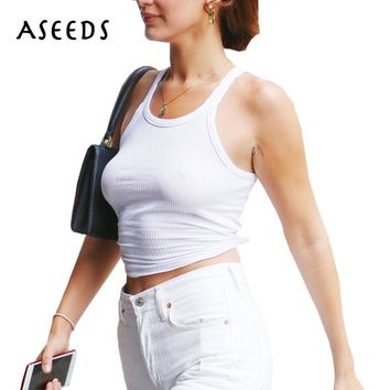 Workout black crop tops women 2017 hot sexy basic slim sleeveless summer tops white tank top women cropped feminino