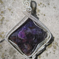 Purple Passion/Sugilite and Sterling Silver Pendent