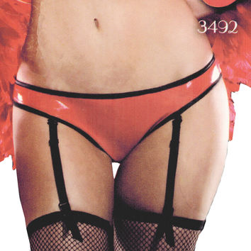 Wetlook Ruffle Bum Panty for Women