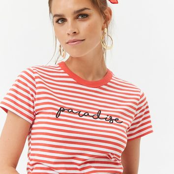Striped Paradise Tee