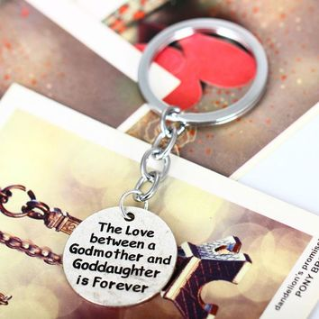 Love Between Godmother And Goddaughter Keychain God Charm Keyring Accessories Keychain Souvenirs Key Ring Chain Jewelry
