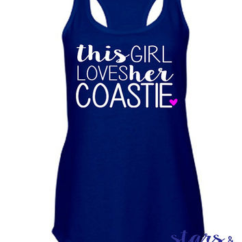 This Girl Loves Her Coastie Tank. Coast Guard America Deployment Homecoming. Milso wife fiance girlfriend mom. Patriotic Hero