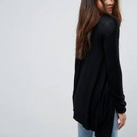 ASOS TALL Cardigan In Fine Knit With Rib Detail at asos.com