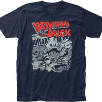 Howard The Duck Newspaper Mens T-Shirt