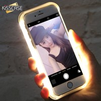 LED Flash Selfie Light Case For IPhone & Samsung Galaxy S6 S6 Edge S7 Cover