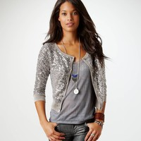 AE Sequined Crop Cardigan | American Eagle Outfitters