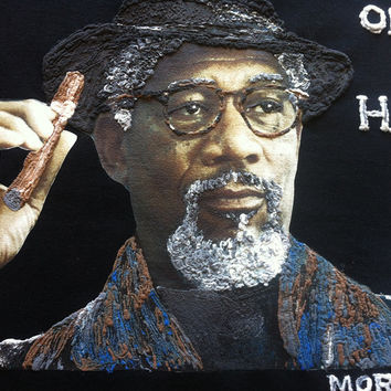 MORGAN FREEMAN T-SHIRT painted by Quor