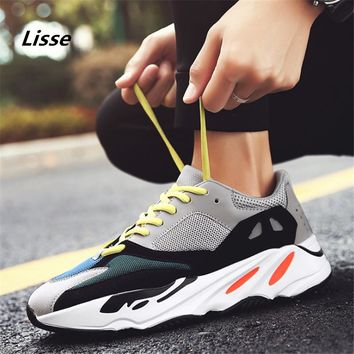 Sneakers Men Brand 2018 Oxford men Running shoes Platform sports shoes Spring autumn Jogging Walking Trainers size 39-44