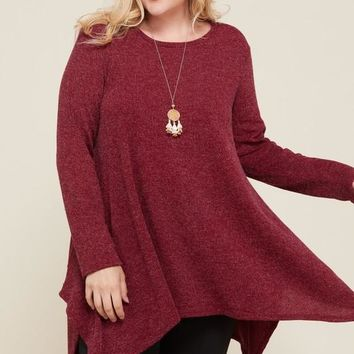 Stop By Later Top + Burgundy