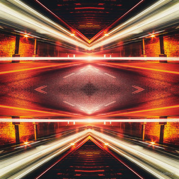 'Geometric Street Night Light (HDR Photo Art) XTFORCE-TB' by badbugs