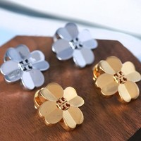 Tory Burch Fashion New Metal Floral Earring Women Accessories