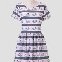 Bike Stripe Dress By Sugarhill