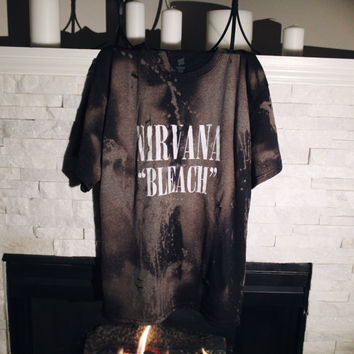 "Nirvana ""Bleach"" Acid Wash T-Shirt"