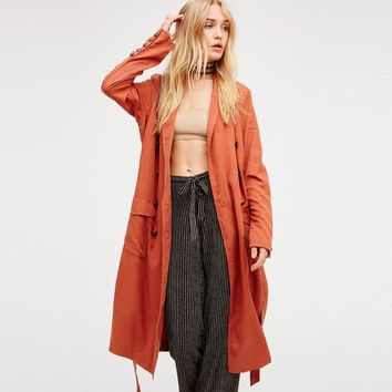 Boho People Long Trench