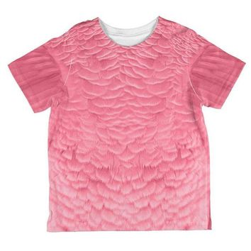 LMFCY8 Halloween Pink Flamingo Costume All Over Toddler T Shirt