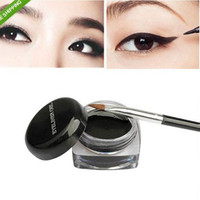 1Pcs Hot Sale Black Waterproof Eye Liner Eyeliner Gel Makeup Cosmetic + Brush Makeup Set