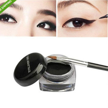 Black Waterproof Eye Liner & Makeup Brush