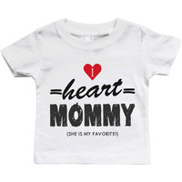 Graphic Snap-on Style Baby Tee, Infant Tee - I Heart Mommy