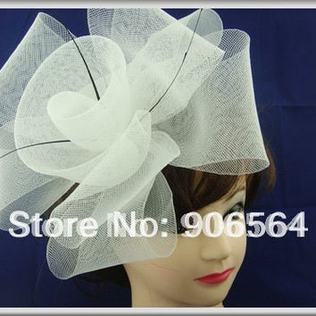 Hot sale the multiple color feather fascinator hats,good quality bridal hats,,1pcs/lot,free shipping!RMSF03