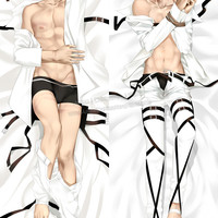 New Levi Ackerman - Attack on Titan Male Anime Dakimakura Japanese Hugging Body Pillow Cover ADP-511109