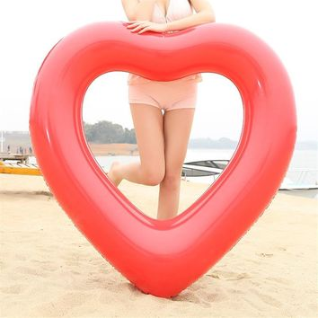 Heart Swimming Ring Inflatable Mattress Pool Float Water Swim Circle For Kids Adult Piscina Beach Summer Party Fun Toys