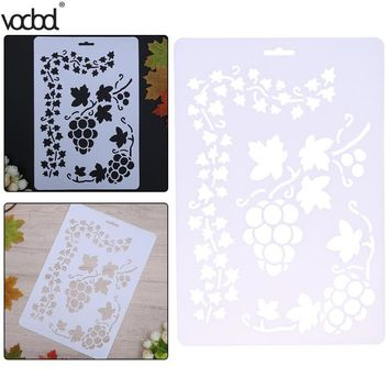 Grape Vine Pattern Stencils DIY Scrapbooking Paper Cards Layering Template Art Craft Painting Drawing Card Wall Spray Stencil