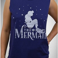 The Little Mermaid Silhouette Junior Fitted Muscle Tank - Spencer's