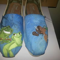 Princess and The Frog version 2 hand painted TOMS