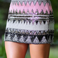 Twinkle In The Night Skirt: Black/Multi | Hope's