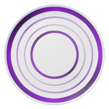 Purple Rings Plate