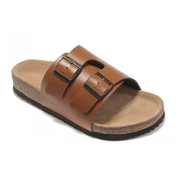 Birkenstock Z¡§?rich Sandals Leather Dark Orange - Ready Stock