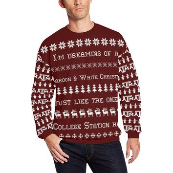 College Station University Men's Ugly Christmas Sweater Sweatshirt; 6 variants available