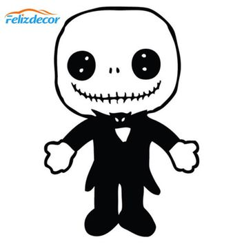 Nightmare Before Christmas Jack Doll Die Cut Vinyl Car Decal Art Window Car Body Decor Stickers Waterproof Removable New L129