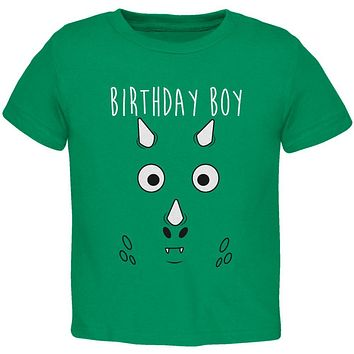 Birthday Boy Cartoon Cute Dragon Face Toddler T Shirt