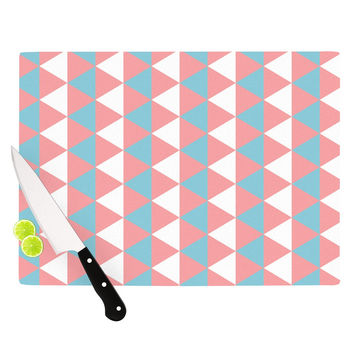 "KESS Original ""Be Still"" Blue Pink Cutting Board"