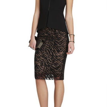 BCBG Peplum Abrielle Sleeveless Top