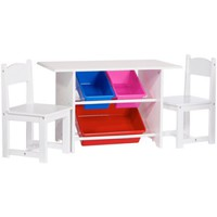 RiverRidge Kids - Activity Table and Chair Set with Storage Bins - Walmart.com