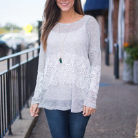 Slice Of Heaven Top, Heather Gray