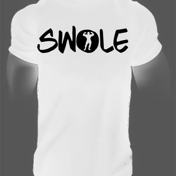 Swole train T-Shirt Gymmer Fitness Clothes bodybuilding workout Apparel Motivation