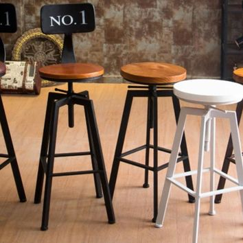 VINTAGE RETRO INDUSTRIAL LOOK RUSTIC SWIVEL KITCHEN BAR STOOL CAFE CHAIR FOR HOME KITCHEN RESTAURANT COFFEE SHOP DINNING