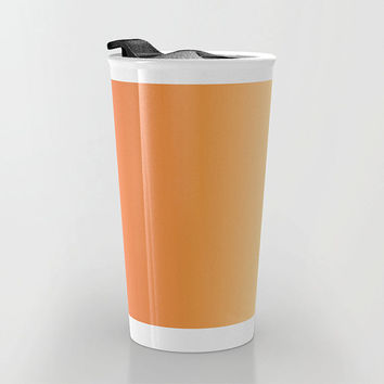 Orange Travel Mug - Orange to Yellow Ombre - Yellow Travel Coffee Travel Mug - Hot or Cold Travel Mug - 12oz Travel Mug - Made to Order