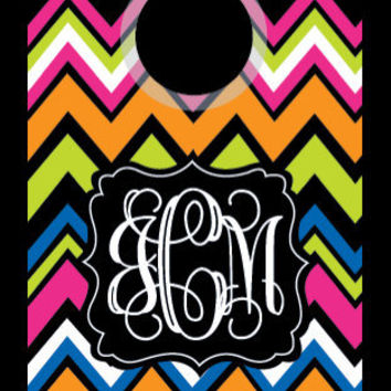 Multi Chevron iPhone 4 4S Otterbox Commuter case Personalized Monogrammed