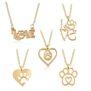 I Love Paws Necklaces