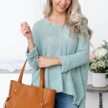 Woven Long Sleeve Stretch Top| Teal