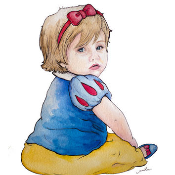 Classic Watercolor Portrait (3 sizes available). Ideal gift for a graduate, a birthday, or a commemoration of a loved-one. Any one person.