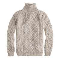 J.Crew Womens Aran Crafts Fisherman Cable-Knit Turtleneck Sweater