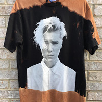 Vintage Inspired Bleached Justin Bieber Purpose Tour Shirt