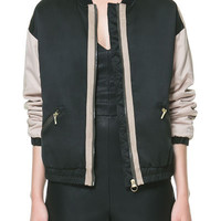 EMBROIDERED BOWLING JACKET - Blazers - TRF | ZARA United States