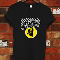 5 Seconds Of Summer Shirt NEW 5SOS Shirt T-shirt Men Women Black RF-4