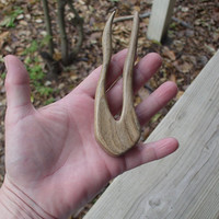 Hair Fork Spalted Hickory Wood 4 7/8 total inches (408)